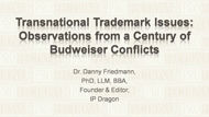 Transnational Trademark Issues: Observations from a Century of Budweiser Conflicts