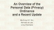 CPD Course: An Overview of the Personal Data (Privacy) Ordinance and a Recent Update - Clip 1