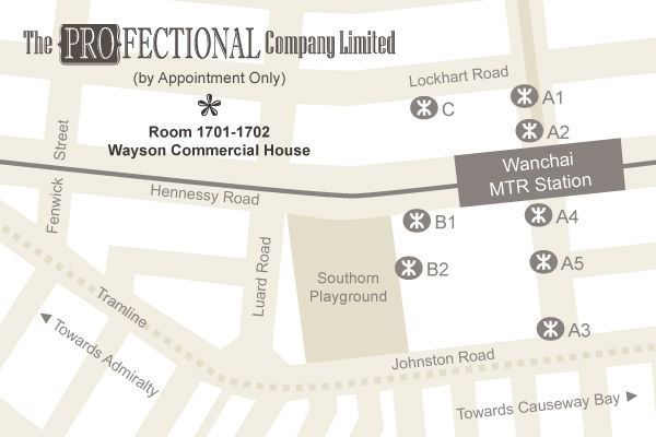 Location Map to The Profectional Company Limited